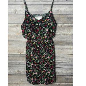 HM Coachella - XS Black Floral Dress